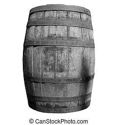 Wooden barrel cask - Old wooden barrel cask for whisky or...