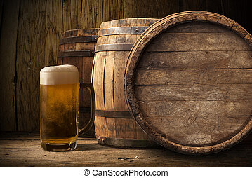 wooden barrel for beer, wine and whiskey