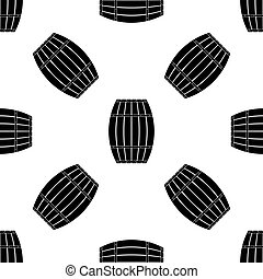 Wooden barrel icon pattern on white background. Vector Illustration