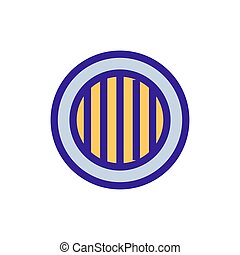 wooden barrel icon vector. Isolated contour symbol illustration