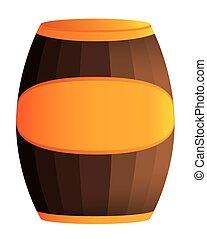 Wooden barrel illustration