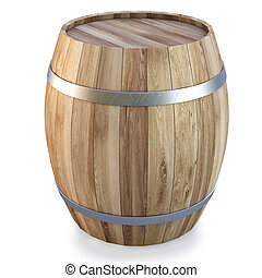 barrel - Wooden barrel. isolated on white