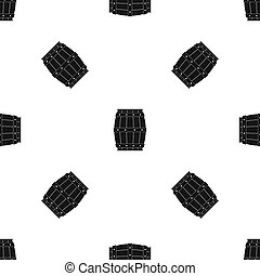 Wooden barrel pattern seamless black