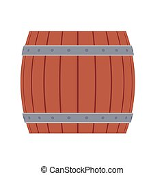 Wooden barrel vector illustration beer drink cask. Beverage alcohol old keg brown container. Vintage bar brewery
