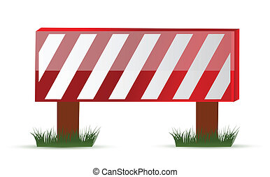 Wooden barrier protecting road