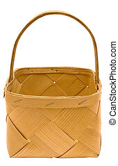 Wooden Basket with Clipping Path
