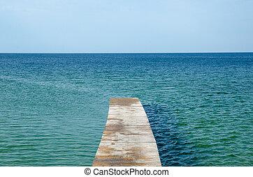 Wooden bath pier