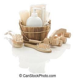 Wooden bathing accessories