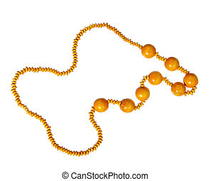 Wooden beads isolated