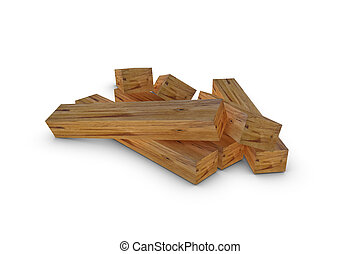 Wooden beam - Illustration of a wooden beam