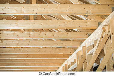 Wooden Beams House Skeleton Structure