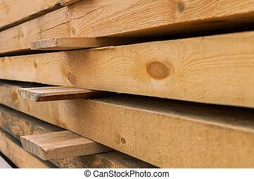 Wooden beams preparation
