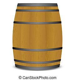 beer keg barrel - Wooden beer keg barrel with metal straps...
