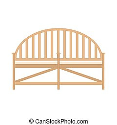 Wooden bench. Benches isolated. Vector flat view icon design outdoor.