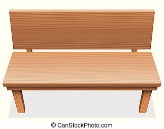 Wooden Bench Free Seat Empty