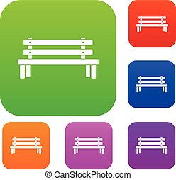 Wooden bench set collection