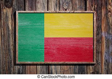 Wooden Benin flag