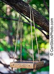 bird feeder hanging on the tree branch