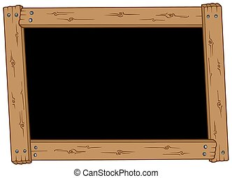 Wooden blackboard