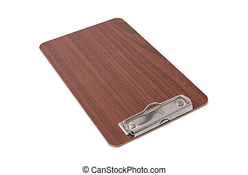 Wooden blank clipboard isolated