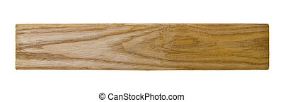 wooden block isolated on white background