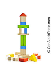 Wooden block tower