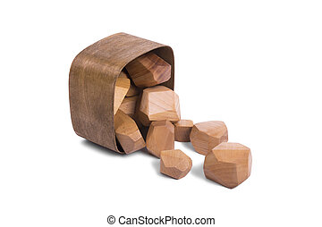 Wooden blocks in the box