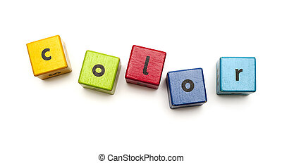 Wooden blocks isolated on white background