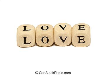 Wooden blocks love