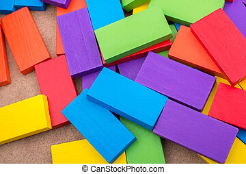 Wooden blocks of various color