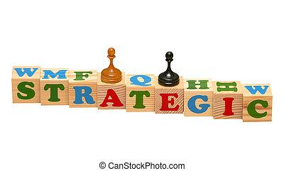 Wooden blocks-strategic