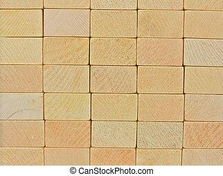 wooden blocks wall 3