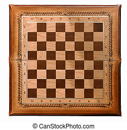 Wooden board for a game of chess