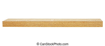 Wooden board isolated on white background