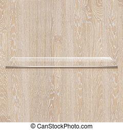 wooden board, met, glas, plank