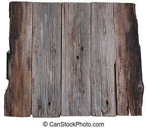 wooden board old planks isolated white background