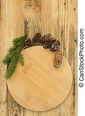 wooden board on brown wooden background