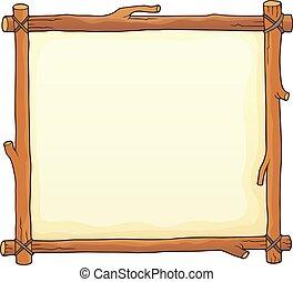 Wooden board theme image 2 - eps10 vector illustration.