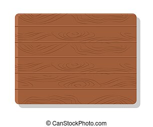 Wooden Board Vector Illustration Isolated on White - Wooden...