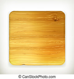 Wooden board, vector