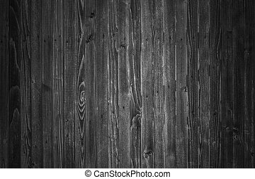 Wooden boards background in black and white