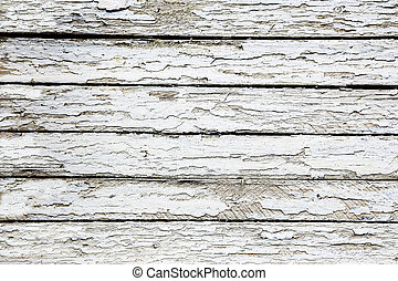 boards covered with white cracked paint - wooden boards...
