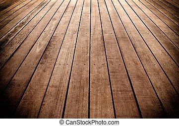 Wooden boards floor - texture of wooden boards floor