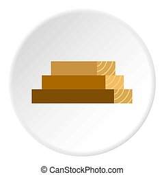 Wooden boards icon circle
