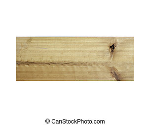 Wooden boards isolated on white background. with clipping path