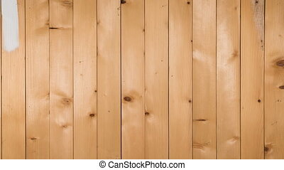 Wooden boards staining white