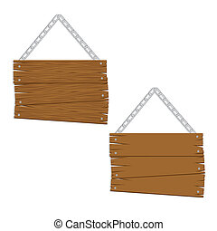 wooden boards with chain