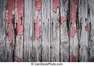 Wooden Boards with Peeling Paint