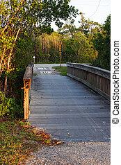 Wooden Boardwalk Bridge Ding Darling Sanibel Florida ; Bailey Tract
