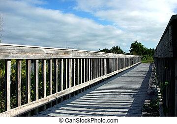 Wooden Boardwalk Bridge Ding Darling Sanibel Florida